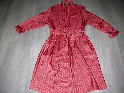 Vintage traditional red paisley gentlemans dressing gown, a bit worn L