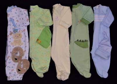 Baby Boys Size 0/3 Mos. Fall Sleepers & Accessories Clothes Lot Free Ship!