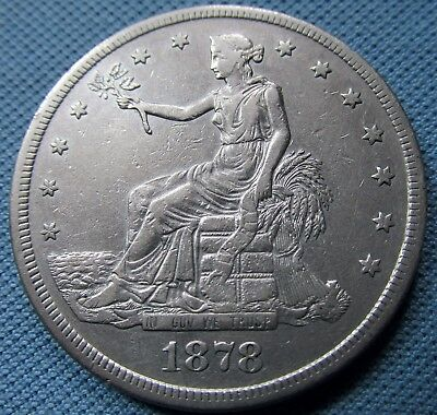 1878-S US Silver Dollar Trade Dollar Liberty Eagle From an Old Collection (MJN)