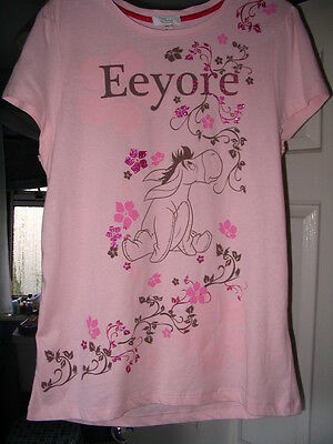 Disney Store Exclusive Eeyore Pink Glitter Ladies T Shirt Size 16 New Last One