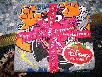 Disney Store Animal Muppets Pyjamas Make Some Noise Age 18/24 M Or 2/3 Brand New