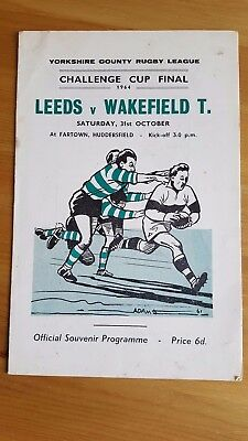 Yorkshire Rugby League Challenge Cup Final 1964 Leeds V Wakefield Trinity