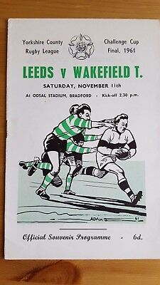 Yorkshire Rugby League Challenge Cup Final 1961 Leeds V Wakefield Trinity