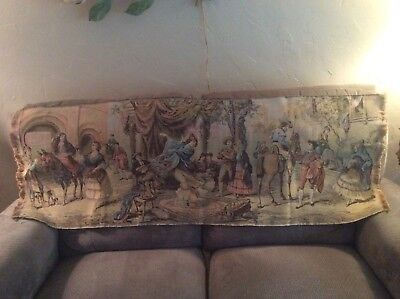 Large Berguim court Yard tapestry. great condition