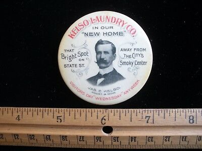 Rochester NEW YORK James E. Kelso Laundry Co State St Pocket Mirror