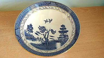"""Royal Doulton Booths Real Old Willow Fine Bone China 9"""" Serving Bowl. V G Cond."""