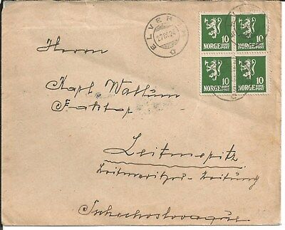NORWAY Cover Elverum 27.9.1924