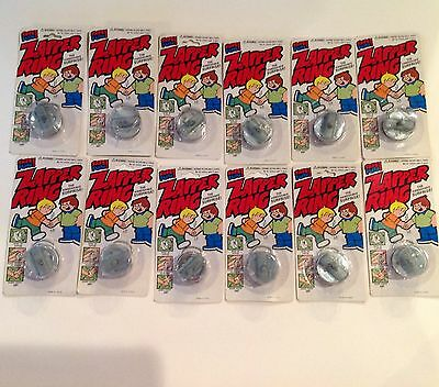 Lot Of 12 Hand Buzzers Zapper Ring Joke Novelty On Individual Cards Carnival Nip