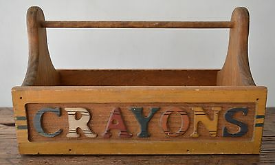 1950s Crayons Wooden Box