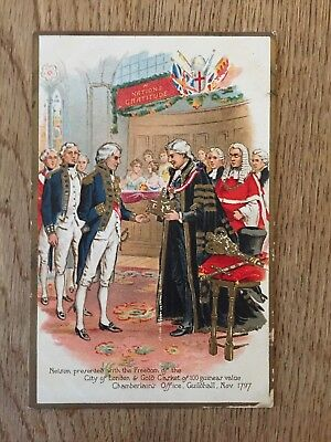 Postcard Nelson Freedom of City of London
