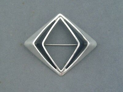 Plus Studios Norway Sterling Silver Modernist Large Brooch O.pettersen 1968
