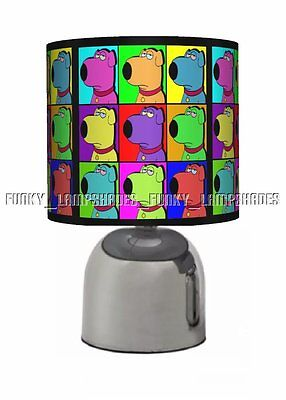 Family Guy ☆ Black Bedside Touch Lamp ☆ Boys / Mens Table Lamp Gift