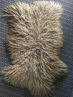 Authentic Australian Curly Sheepskin Rug natural / ivory