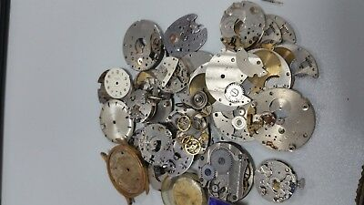 50 + watch parts ideal for steampunk or repair
