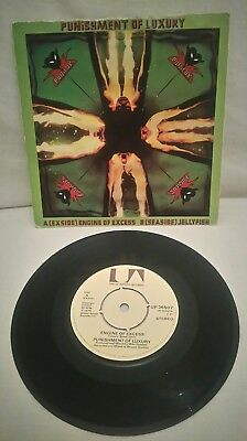 "Punishment Of Luxury ‎– Engine Of Excess / Jellyfish EX/VG UP36507 UA 7""  P/S"