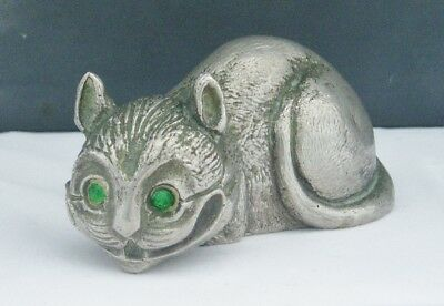 Rare Vintage Bronze Novelty Car Mascot The Cheshire Cat Alice In Wonderland
