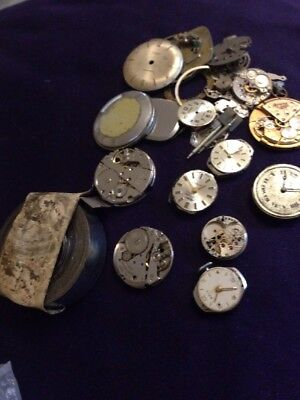 Mixed Lot Of Vintage Watch Repair Bits