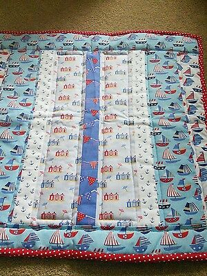 Hand Made Baby Quilt New