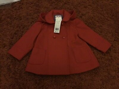 Girls Red Coat - 18-24 Months