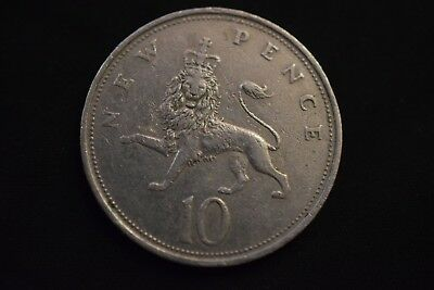 1969 LARGE OLD ELIZABETH II TEN PENCE 10p Coin different year in my shop