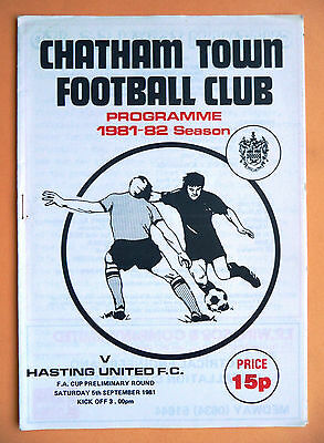 1981/1982 Chatham Town v Hastings United - fa cup preliminary round - 05/09/1981