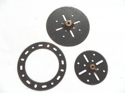 MECCANO BLACK GEARS 27b 27c + GEAR RING 180