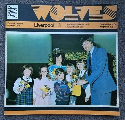 Wolves V Liverpool Official Division 1 Match Day Programme 1977/78 Season