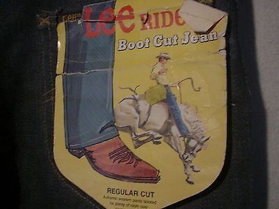 1970's Vintage New With Tags LEE RIDERS 200 Boot Cut Jeans Mens Tag 28x32 NOS