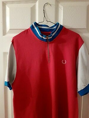vintage fred perry cyling top