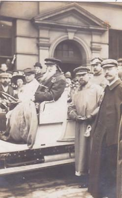 Rp General William Booth Salvation Army In Motorcar & Crowds Real Photo 1909