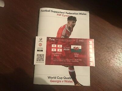Georgia v Wales World Cup 2018 Unused Ticket Stub