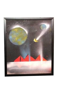 Modern Art Galaxy Canvas Oil Painting by Visually Impaired
