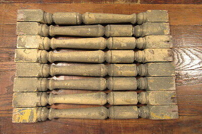Lot Of 8 Vintage Wood Wooden Turned Spindles Ballusters