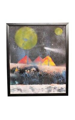 Exclusive Moon Night Canvas Oil Painting by Visually Impaired