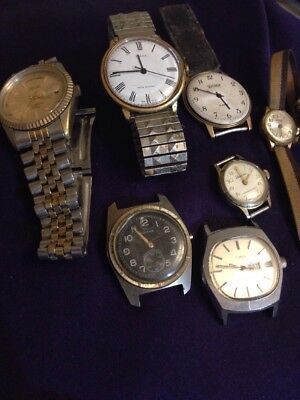 Mixed Lot Of Six Vintage Watches For Repair Bits