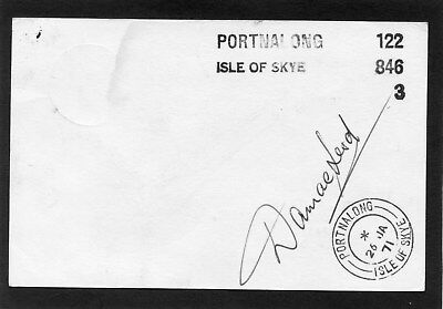 Scotland Scottish Islands Isle of Skye PORTNALONG 1971 rare mailbag mark