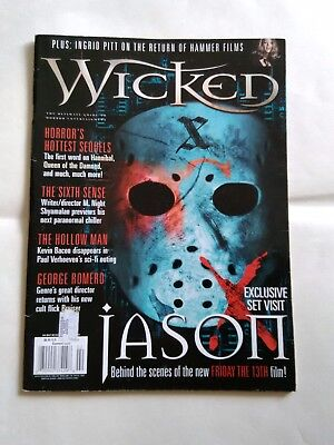 Wicked horror magazine featuring Friday The 13th