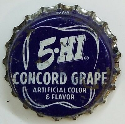 5-HI CONCORD GRAPE Soda Bottle Cap Crown USED CORK Caps
