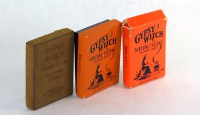 Lot 3 Vintage Gypsy Witch Fortune Telling Playing Cards US Playing Card Occult