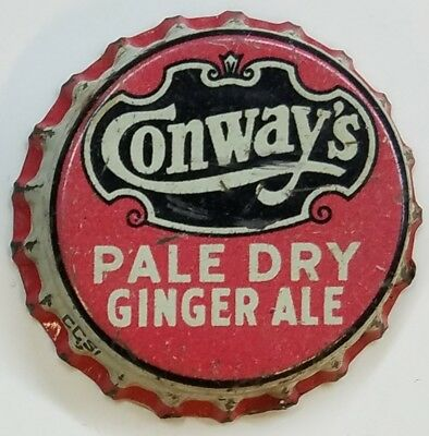 CONWAY'S PALE DRY GINGER ALESoda Bottle Cap Crown USED CORK - FROM COLLECTION