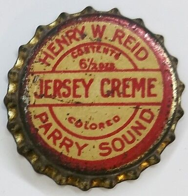 HENRY REID JERSEY CREME PARRY SOUND Soda Bottle Cap Crown UNUSED CORK Caps