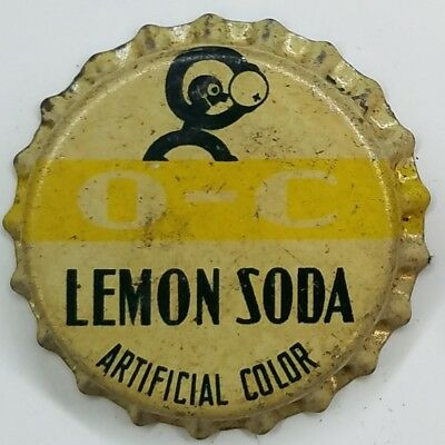 O-C ORANGE CRUSH LEMON SODA Bottle Cap Crown UNUSED CORK Caps