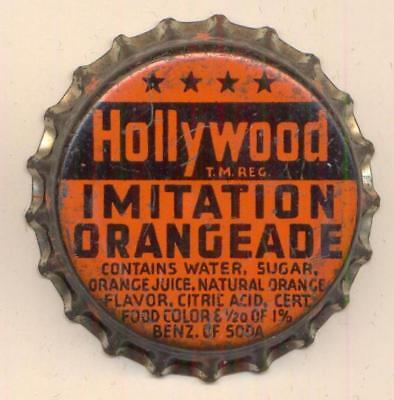 HOLLYWOOD ORANGEADE (B) Soda Bottle Caps Crown USED CORK Cap