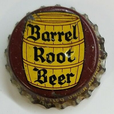 PURE SPRING BARREL ROOT BEER Soda Bottle Cap Crown USED CORK OTTAWA, CANADA