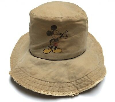 Vintage Walt Disney Productions Mickey Mouse Sun Hat - Made in USA - 1930's