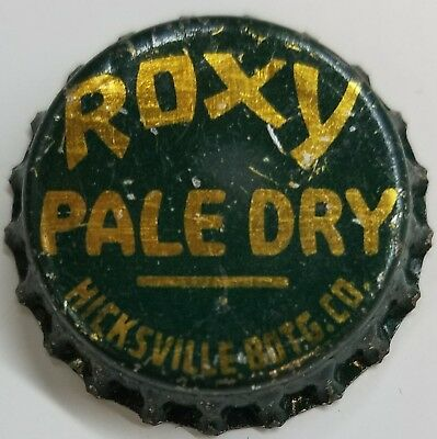ROXY PALE DRY HICKSVILLE BOTG CO Soda Bottle Cap Crown USED CORK Caps