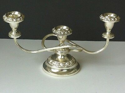 Ianthe Candleabra 1002 Georgian Style Silver Plated W29 D5.5 H15cm