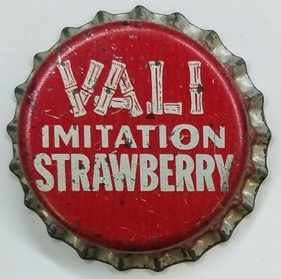 VALI imit STRAWBERRY Soda Bottle Cap Crown UNUSED CORK Caps