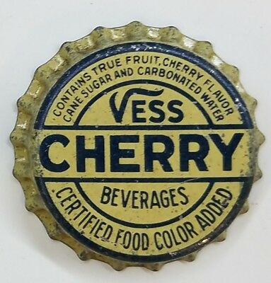 VESS CHERRY BEVERAGES Soda Bottle Cap Crown UNUSED CORK Caps