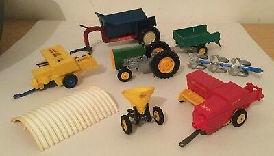 Joblot Of Scrapyard Britains Farm Toys Implements & Tractor  1/32 Scale